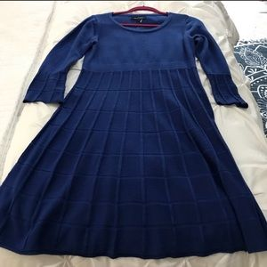 Beautiful royal blue sweater dress